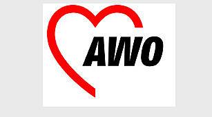 Die AWO - Das Bild zeigt das AWO-Herz mit dem Schriftzug AWO