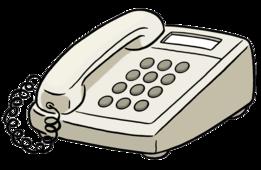 Das Bild zeigt ein Telefon.